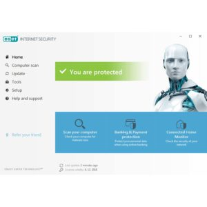 ESET IS main interface